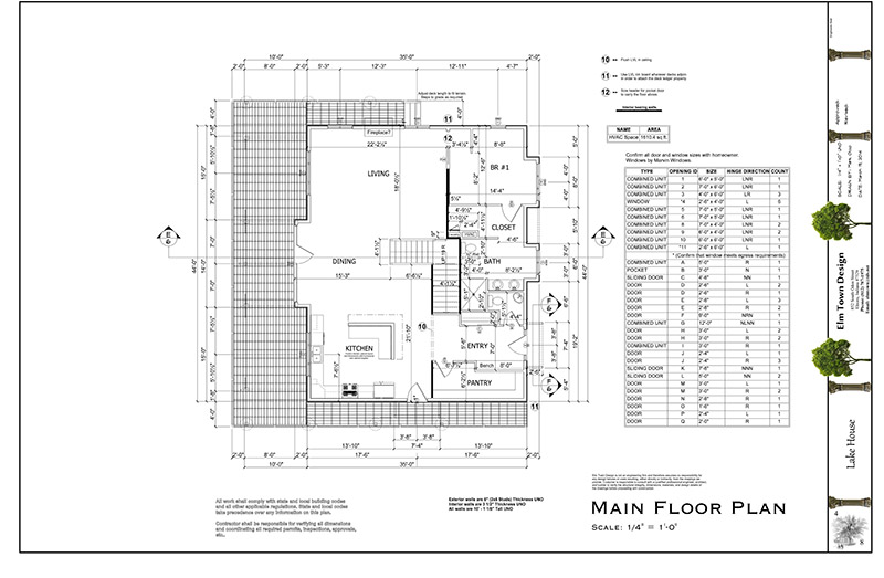 Sample Plan  Elm Town Design Llc